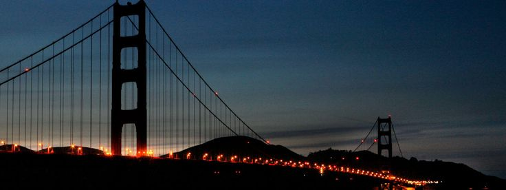 Golden Gate Bridge Off for Earth Hour - Earth Hour is March 29, 2014 at 8:30 pm your local time. Click through to see how you can help ...