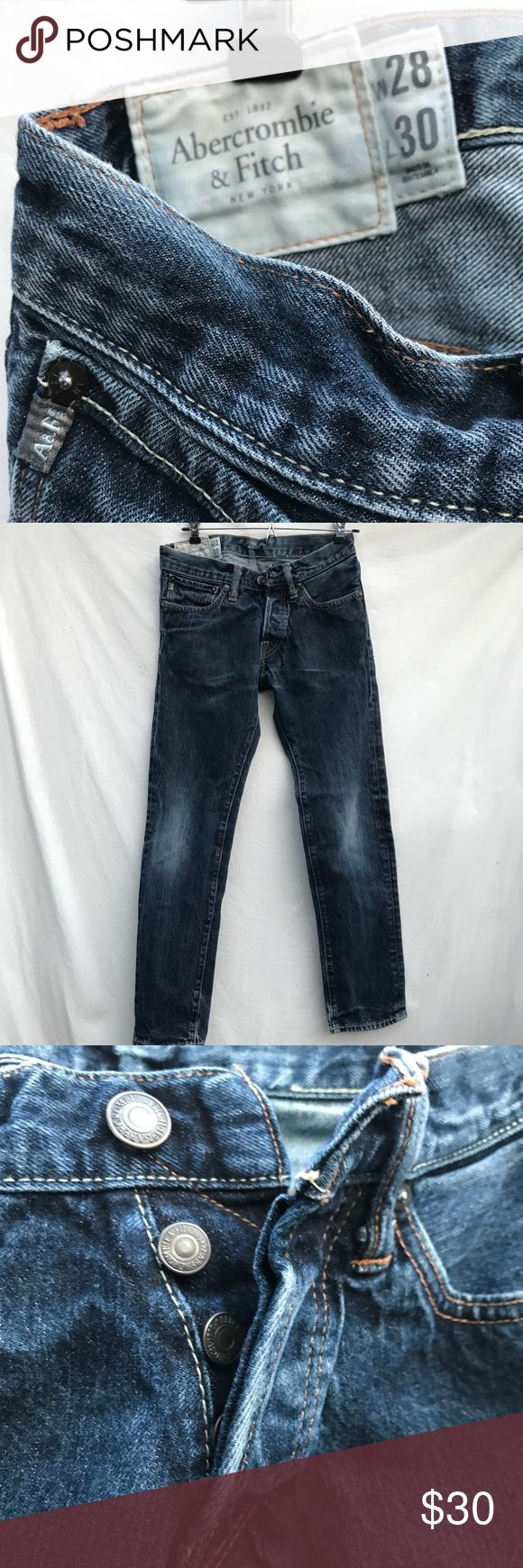 Abercrombie men's low rise skinny button fly 28x30 Men's Abercrombie low rise skinny jeans button  size 28x30 Jeans Skinny