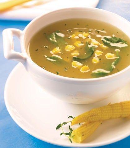 Sopa de elote receta
