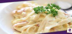 Pasta en Salsa Blanca, delicosa para el almuerzo - Blog de Cocina