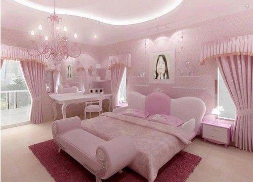 çok-güzel-pembe-renkli-yatak-odası