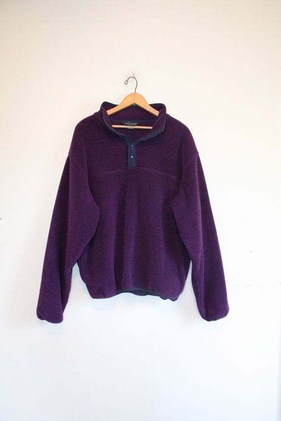 PLUM FLEECE PULLOVER // size adult medium // 90s // by GUTTERSHOP