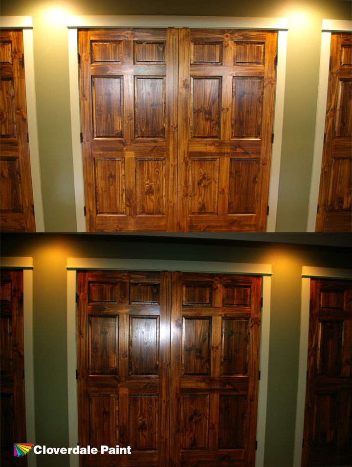 Knotty doors - Vernon BC. Old Masters Dark Walnut wiping stain top coated with & 8 best Old Masters Wood stain images on Pinterest | Old master ... pezcame.com