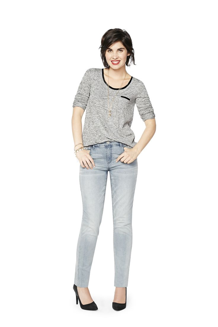 The Girlfriend jean: It's time to break up with your boyfriend. Part-slouchy, part-skinny, this leg shape is all you so there's no need to raid your man's closet anymore. Sounds like the beginning of a beautiful relationship.