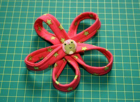Jerseyblume Blume nähen Stoffblume