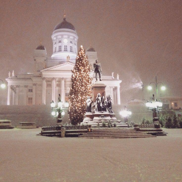 First snowstorm in Helsinki in December 2014