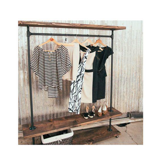 Sale Pipe Furniture Industrial Clothing Rack I Rack