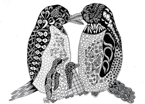 Line Drawing Penguin : 237 best coloring turtle penguin images on pinterest