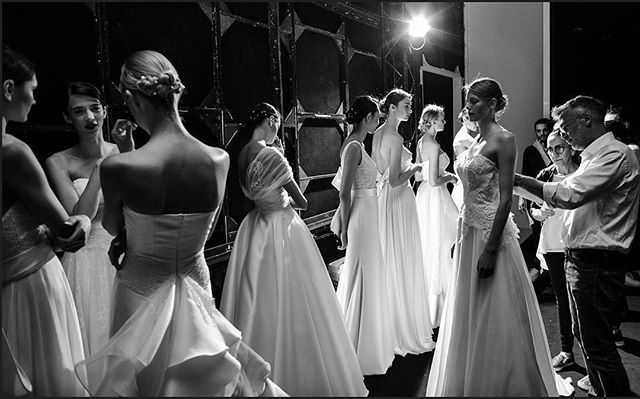 #Repost @uaguy ・・・ Few minutes for a catwalk! Last check! What a Fantastic show of a new @giuseppepapini Giuseppe Papini 2018 #bridal collection! Fabulous! #bride2be #bridetobe #whitedress #wedding2018 #wedding #madeinitaly #свадебноеплатье #свадьба #brid