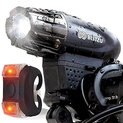 Blitzu Gator 320 USB Rechargeable Bike Light Set POWERFUL Lumens Bicycle Headlight, FREE TAIL LIGHT, LED Water Resistant Front Light, Easy To Install for Kids Men Women Cycling Safety Flashlight. For product info go to:  https://all4hiking.com/products/blitzu-gator-320-usb-rechargeable-bike-light-set-powerful-lumens-bicycle-headlight-free-tail-light-led-water-resistant-front-light-easy-to-install-for-kids-men-women-cycling-safety-flashlight/