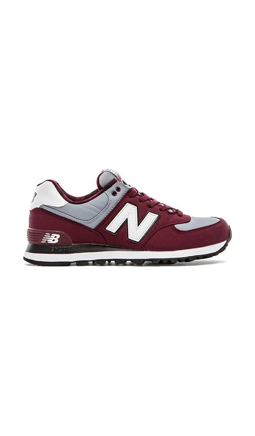 burgundy grey white new balance sneakers - casual