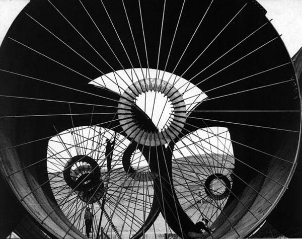 Wind Tunnel Contruction, Fort Peck Dam, 1930s, Margaret Bourke White
