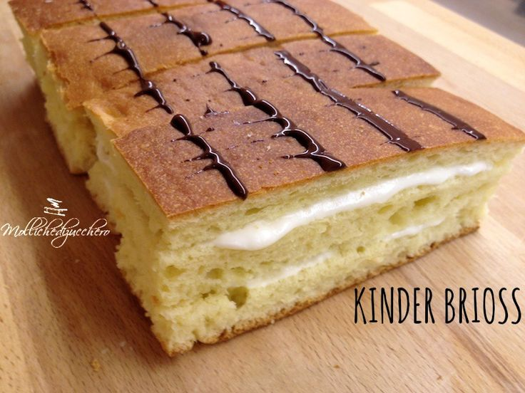 Kinder brioss fatte in casa