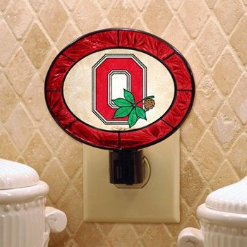 Ohio State University Art Glass Night Light Everything