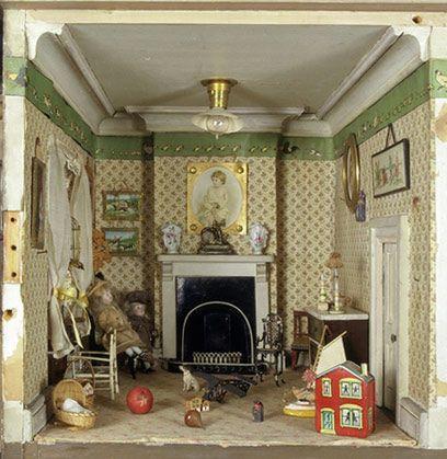 Victorian Dollhouse Nursery -- wood molding