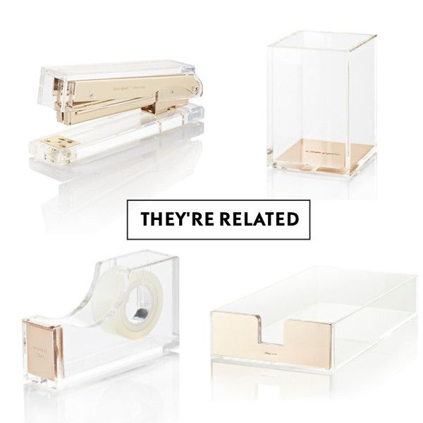 Kate Spade Gold Acrylic Office Supplies   But I Want Rosegold