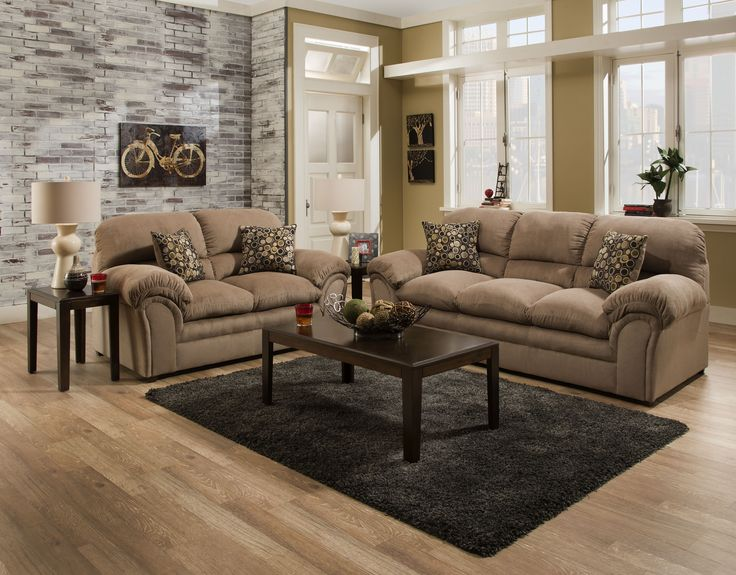 "Harper Performance   Textured Cocoa Tan  Sofa and Love Seat   $899.00    Sofa $499.00  91"" x 37"" x 38"" H  Love Seat $449.00  69"" x 37"" x 38"" H    ADAM 6150H"
