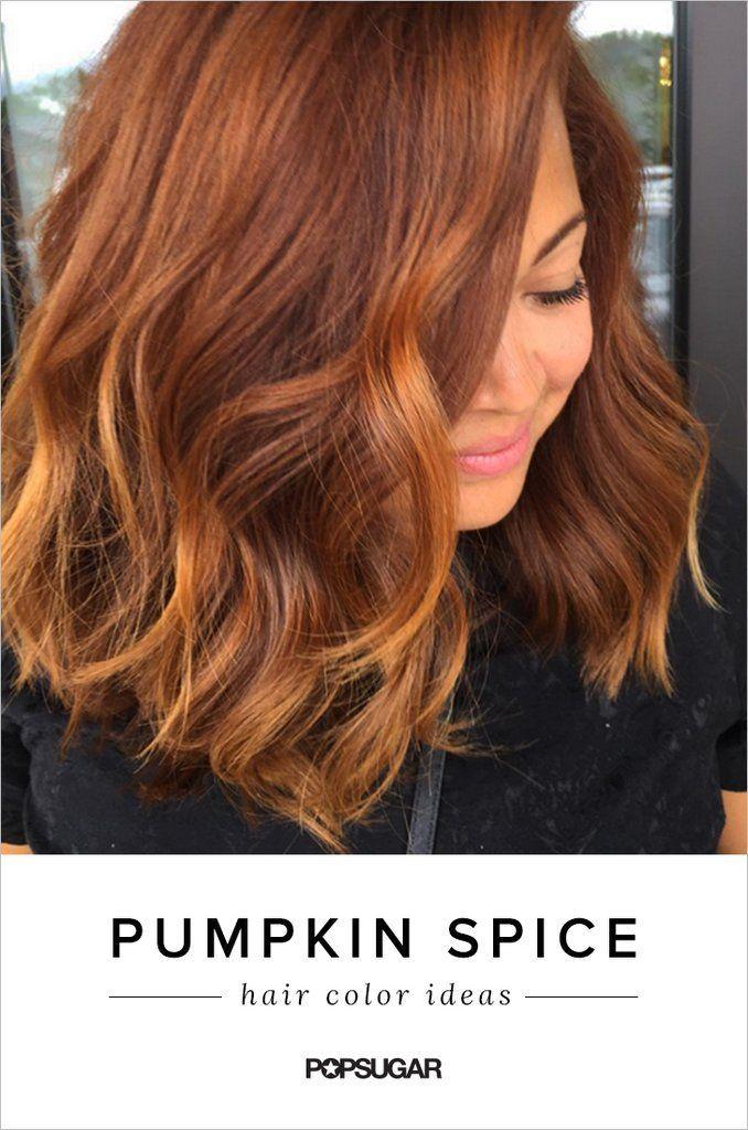 Pumpkin Spice Lattes are almost as good as Pumpkin Spice hair! This warm auburn hair color is a perfect choice for Fall.