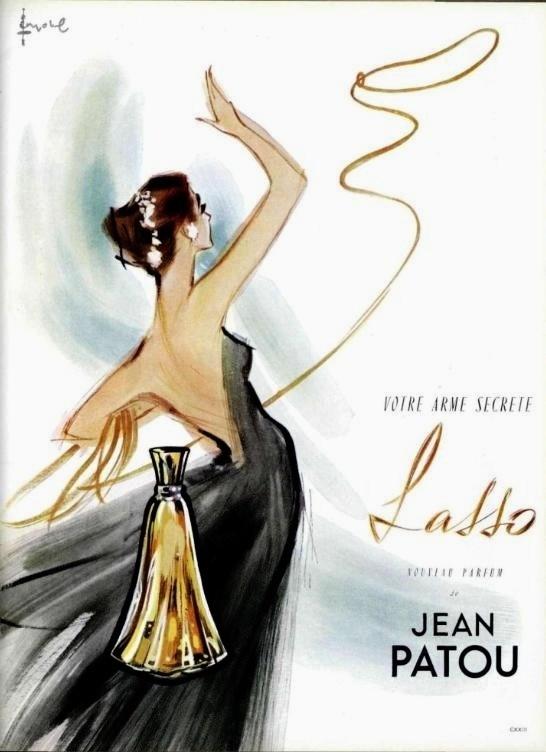Jean Patou 'Lasso' parfum ad, 1950s