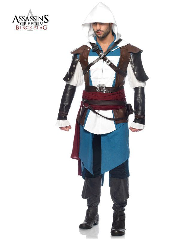 check out mens assassins creed iv black flag edward costume board u0026 videou2026 halloween costumes