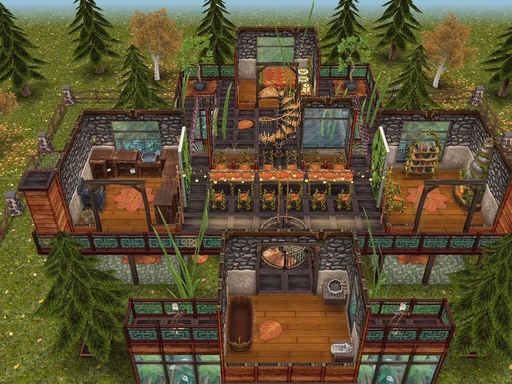 House 92 Woodland Treehouse Level 2 #sims #simsfreeplay #simshousedesign