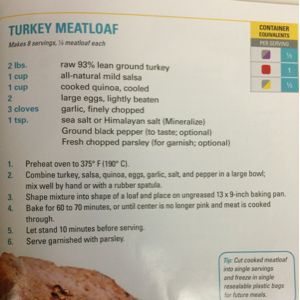 fixate cookbook recipes - Turkey Meatloaf