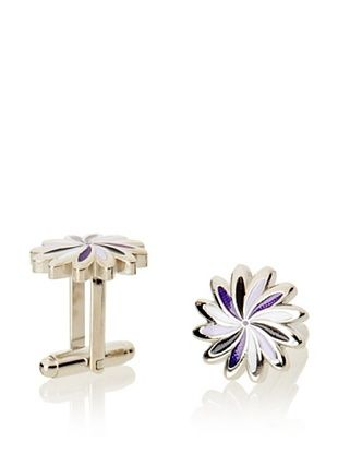 55% OFF L2 Purple Daisy Cufflinks