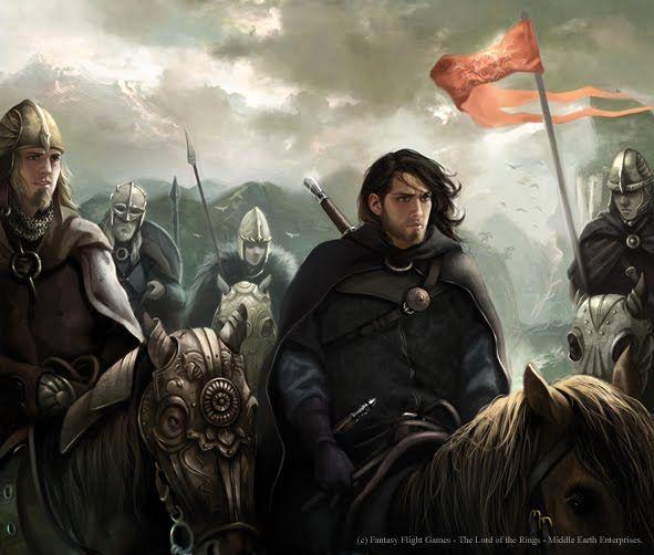 Aragorn and the Rohirrim by Magali Villeneuve