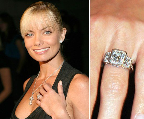 Pin for Later: The Very Best Celebrity Engagement Rings Jaime Pressly My Name is Earl star Jaime Pressly got engaged to her then-boyfriend, DJ Eric Cubiche, in October 2006.