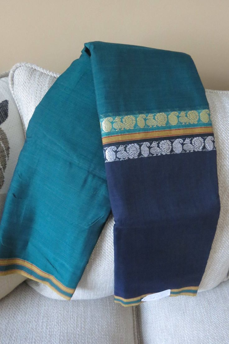 South Cotton pure handloom saree by ZainabBoutique on Etsy