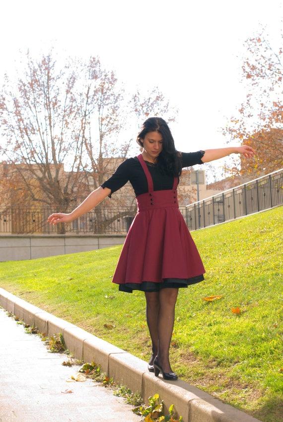 High waist suspenders skirt subject to by LiquoriceEmpire on Etsy, $150.00