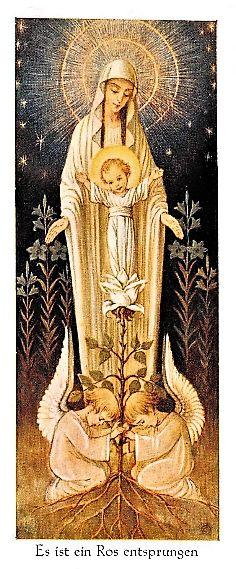 Maria passa na frente, pois creio que à sua frente colocas sempre o teu filho JESUS.