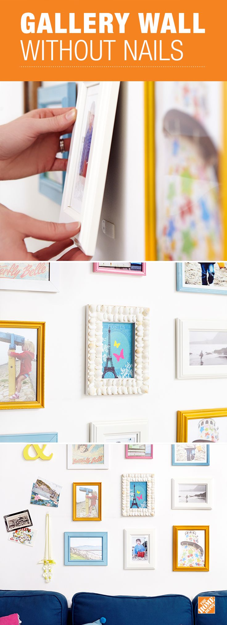 Command Picture Hanging Strips let you decorate your walls damage-free with no sticky residue left behind. Simple to install and great for DIY gallery walls and other creative arrangements, they hold frames up to 24 x 30 inches and work on a variety of wall surfaces including wood, tile and metal. Use in dorm rooms, rental apartments or anywhere you want to keep walls beautiful and damage-free.