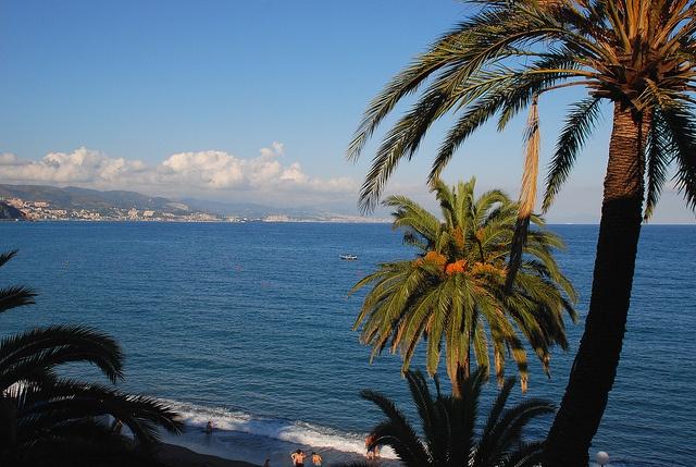 The sea of Arenzano, from the promenade