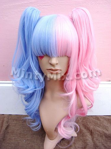 Pink and Blue Split Wig from MinyMix.  I want this one day, but I have no clue what else I'd wear it with.  I'm no sweet loli!