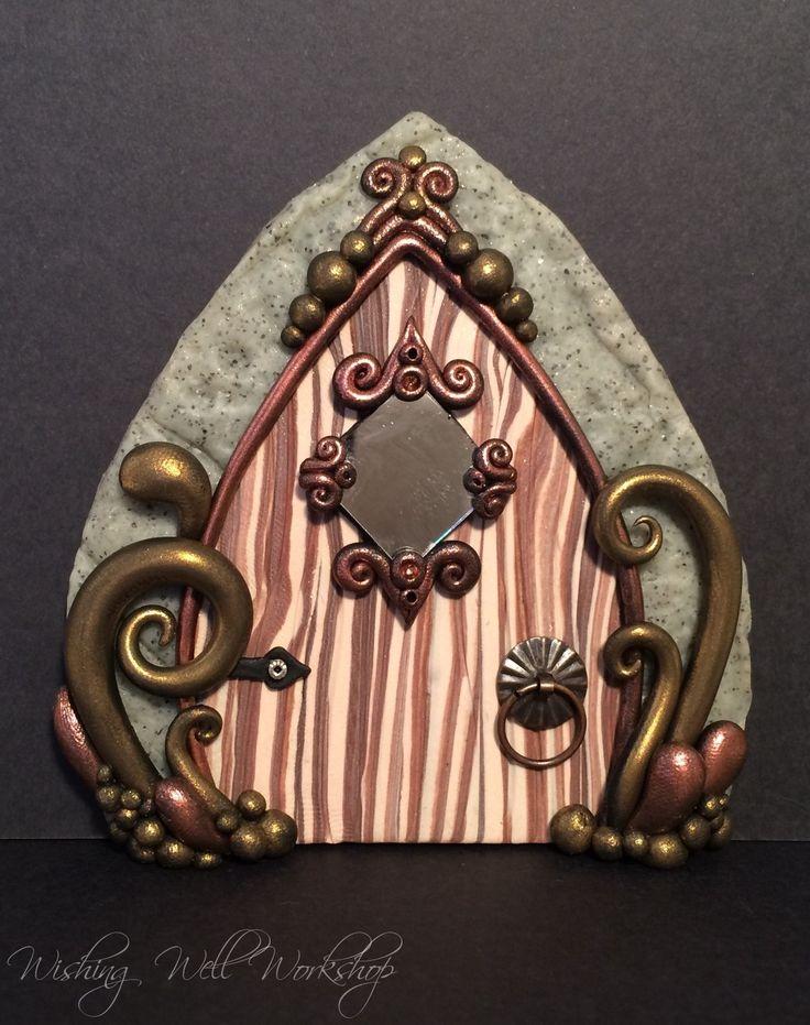 Polymer clay fairy door