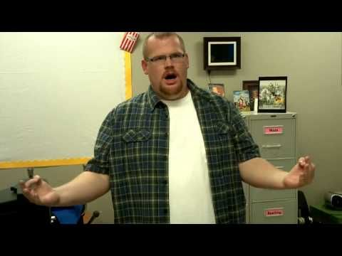 OMGosh! Excellent video on keeping voices down in the classroom. This guy is stinkin hilarious! Could use this one when teaching sing/speak/whisper/shout