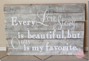 I am making one of these for my bedroom!  Just have to figure out how to do the letters.  I am not good with painting letters.
