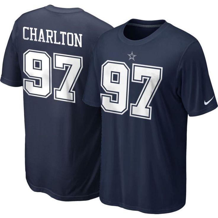 Nike Men's Dallas Taco Charlton #97 Pride Navy T-Shirt, Size: Medium, Team