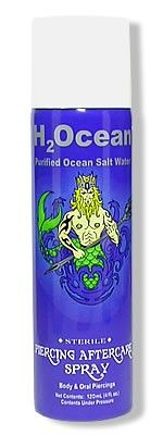 H2Ocean Purified Ocean Saltwater Piercing Aftercare Spray - 4oz Can