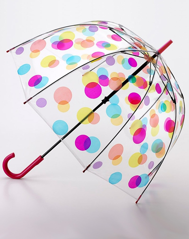 Fulton Transparent Dots Umbrella