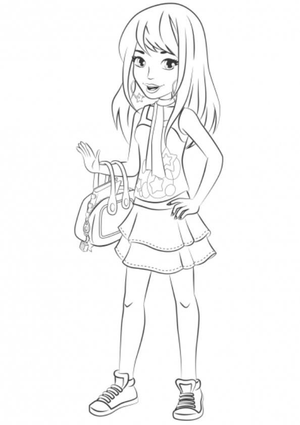 Lego Friends Coloring Pages Stephanie Lego Coloring Pages Lego Friends Lego Coloring