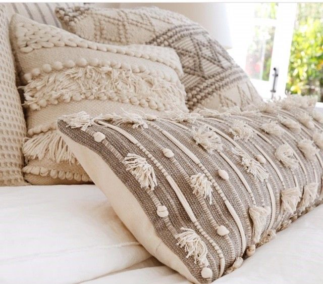 Hand Woven Boho Throw Pillow