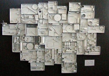 2nd grade art project  - study of louise nevelson-love this idea as a group project--as an add-on, bring from home, assemblage, reuse, recycle project. could then paint white to practice paintbrush skills. maybe a center on the side?