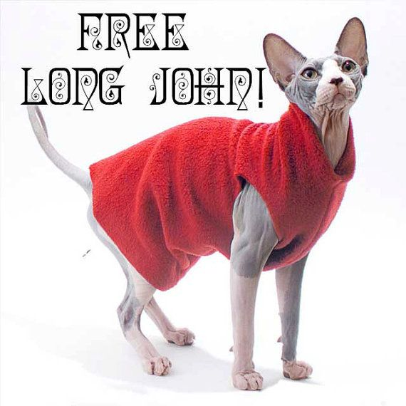 Free Black Friday Fleece Long John. Buy one get one free same size. Use the code GETONEFREE at checkout We choose for you it's 100% FREE by SimplySphynx #etsy #etsyseller #simplysphynx #sphynx #sphynxcat #sphynx #catclothes #sphynxcatclothes
