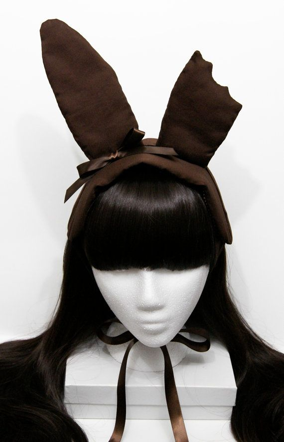 Bitten Chocolate Easter Bunny Gothic and Lolita Bonnet Headdress. $55.00, via Etsy.