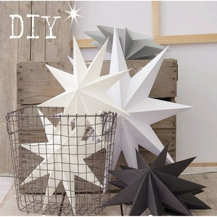 New 1Pcs 30cm 6'' Nine Angles Paper Star Decoration Tissue Paper Star Lantern Hanging Stars For Christmas Party Decoration //Price: $8.99 & FREE Shipping //     #DRONE