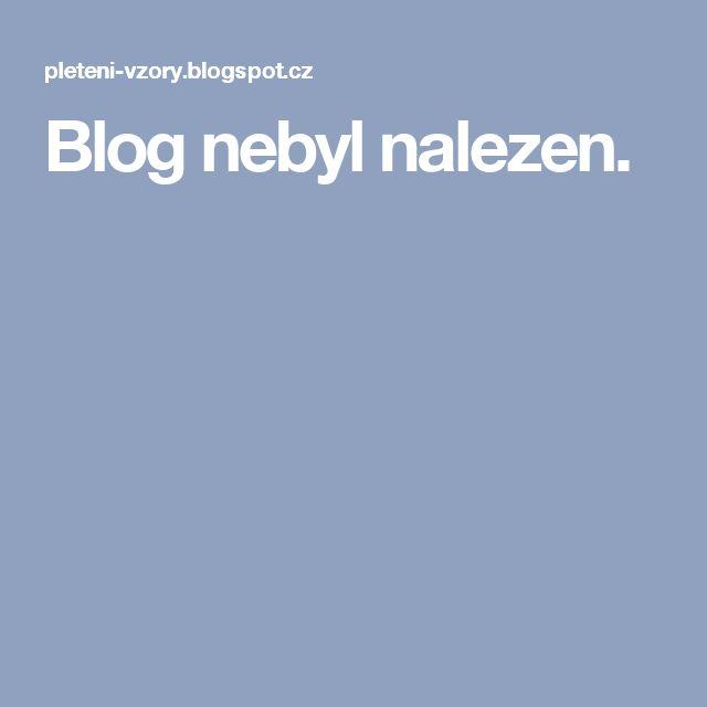 Blog nebyl nalezen.