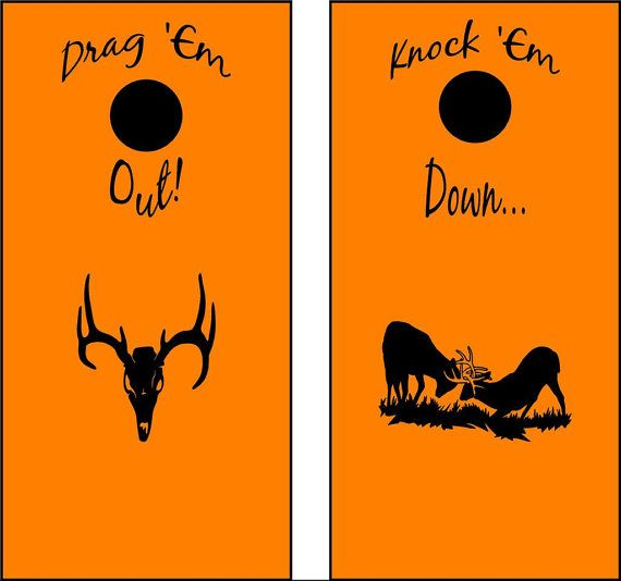 Deer Buck Hunting Cornhole Board Decals Stickers Graphics Wrap Bean Bag Toss HF429