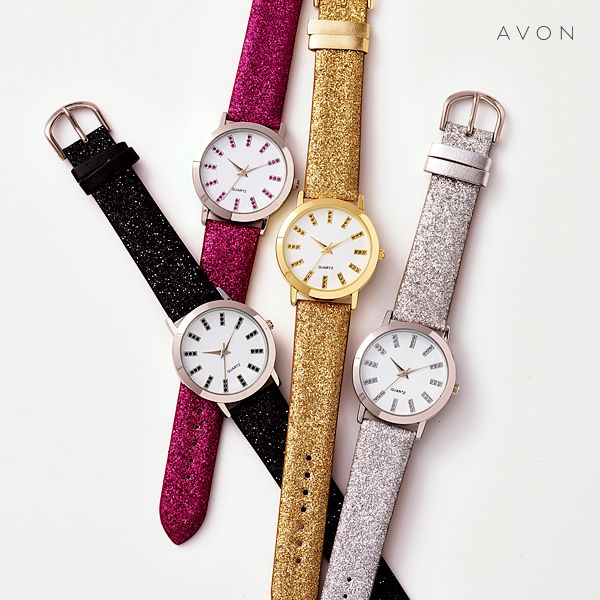 Glitz Glam Blue Diamontrigue Jewelry: Glitter Glam Strap Watch Http://go.youravon.com/37fmz2